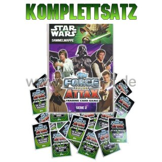 FAMOV2 - Spar 13 - Komplettsatz ALLE 240 Karten+Sammelalbum - Star Wars Force Attax - Movie Cards Serie 2