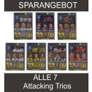 Panini FIFA 365 - 2017 Adrenalyn XL - ALLE 7 Attacking Trios