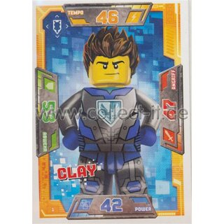 001 - Clay - Helden Karte - LEGO Nexo Knights