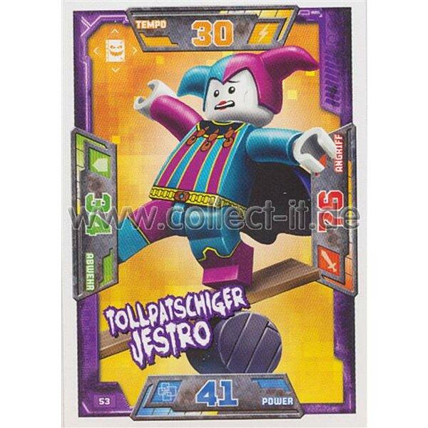 053 Tollpatschiger Jestro Helden Karte Lego Nexo Knights