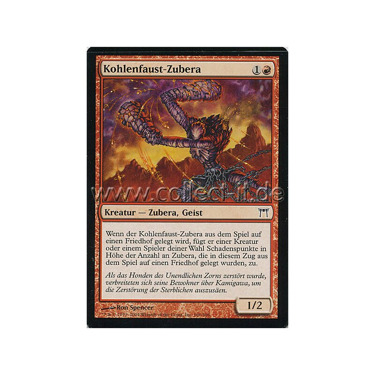 Magic MTG Meister von Kamigawa 166 Kohlenfaust-Zubera Trading Cards Non-Sport Trading Cards