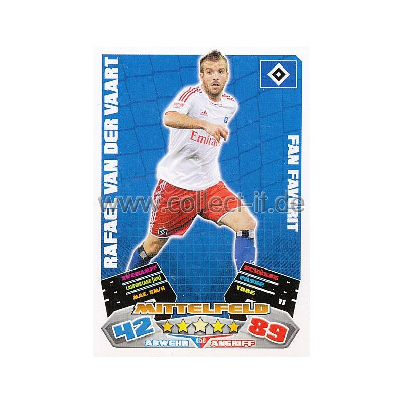 MX-458 - RAFAHEL VAN DER VAART - Hamburger SV - Fan Favorit - Saison 12/13