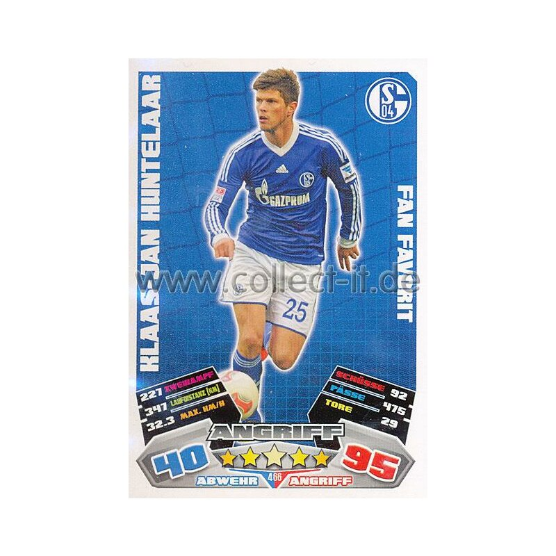 MX-466 - KLAAS-JAN HUNTELAAR - FC Schalke 04 - Fan Favorit - Saison 12/13