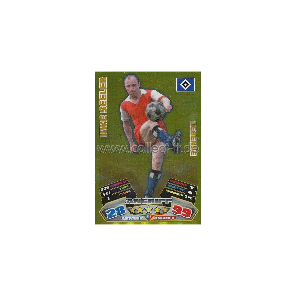 Match Attax 12//13-501 WILLI LIPPENS Legende Rot Weiss Essen