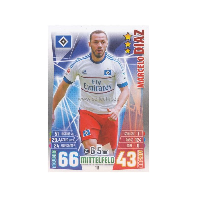 MX-117 - Marcelo DIAZ - Saison 15/16