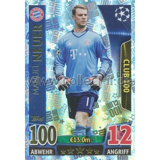CL1516-495 - Manuel Neuer - 100 Club
