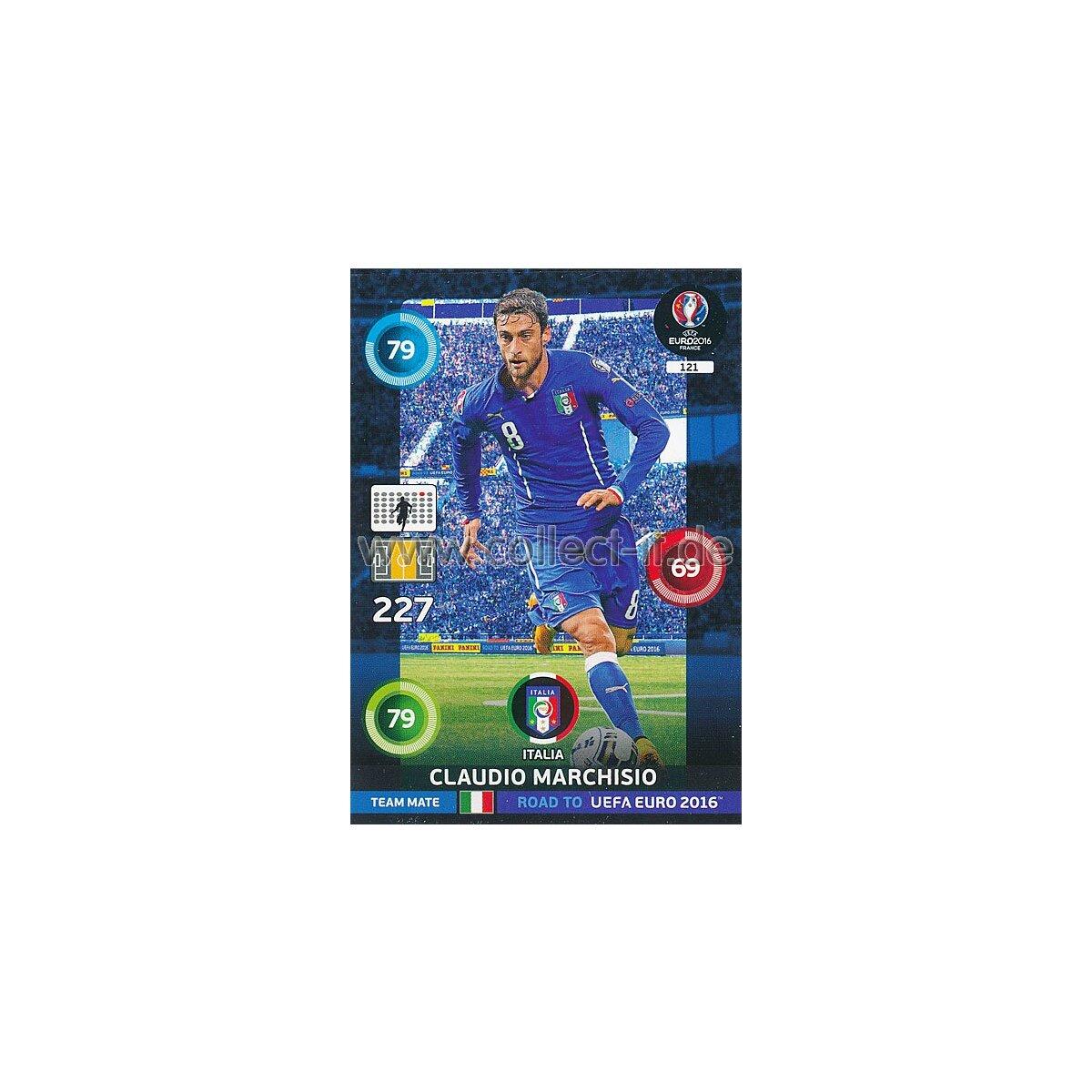 PANINI ROAD TO Uefa Euro 2016-121-Claudio Marchisio-Base Carte