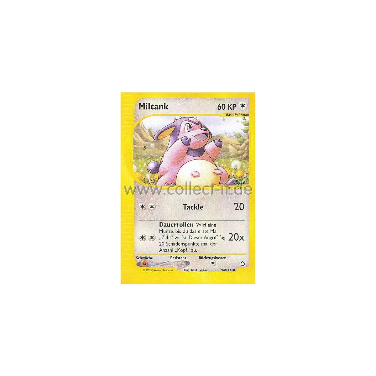 Miltank deutsch Pokemon Aquapolis 94//147