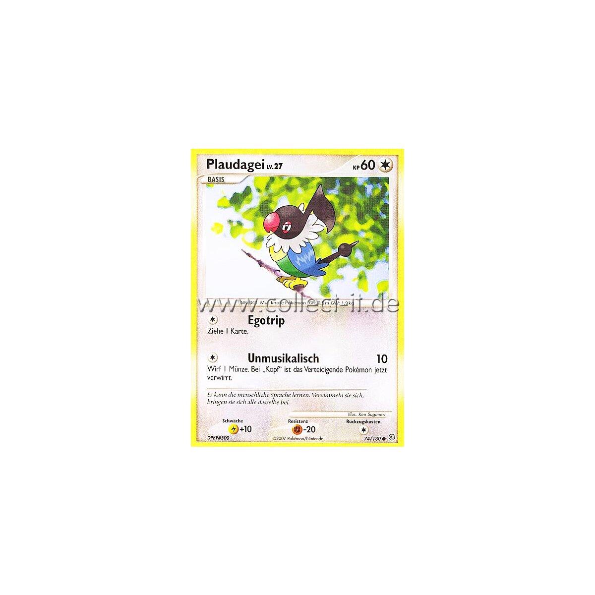 Pokemon Diamant /& Perl 74//130 Reverse Holo Deutsch Plaudagei