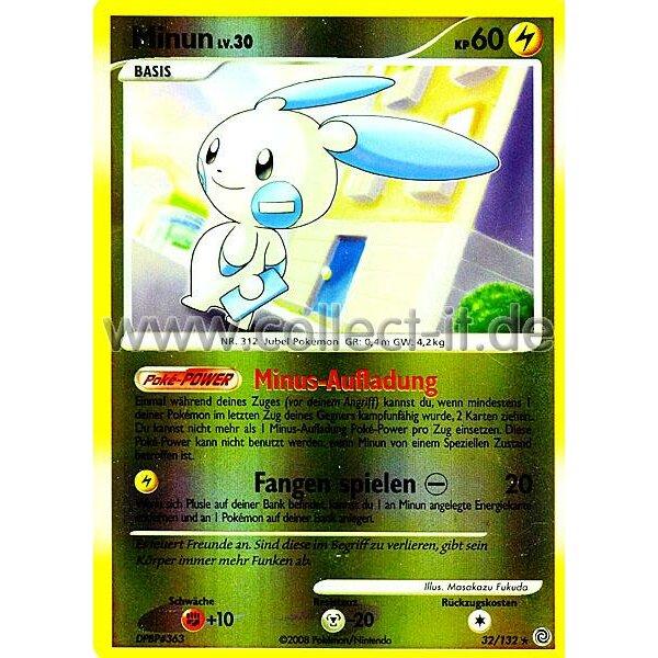Pokemon Diamant /& Perl Rätselhafte Wunder 36//132 Plusle Reverse Holo Deutsch