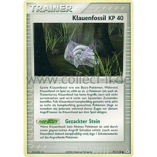 Klauenfossil Deutsch Pokemon EX Holon Phantoms 91//110