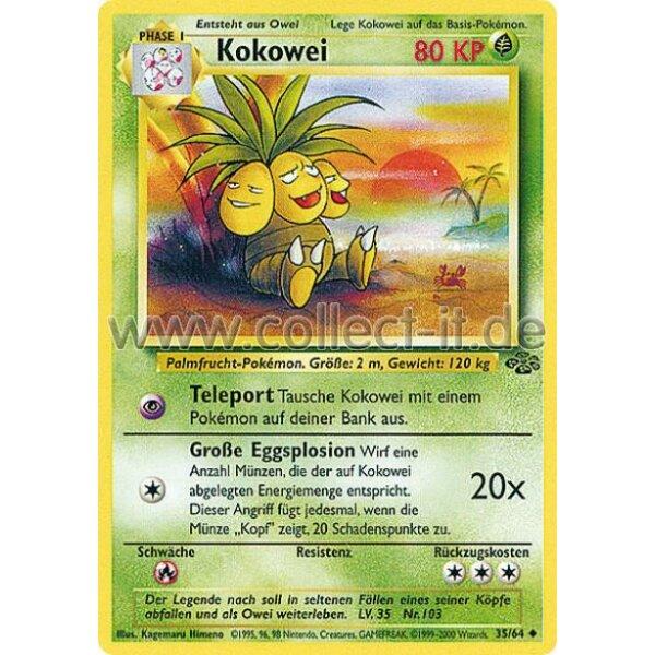 Unlimitiert 33/64 Pokemon Dschungel Smettbo Deutsch