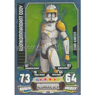 Force Attax Série 3 213-klonkommandant Cody-KLONKRIEGER-Star-Carte