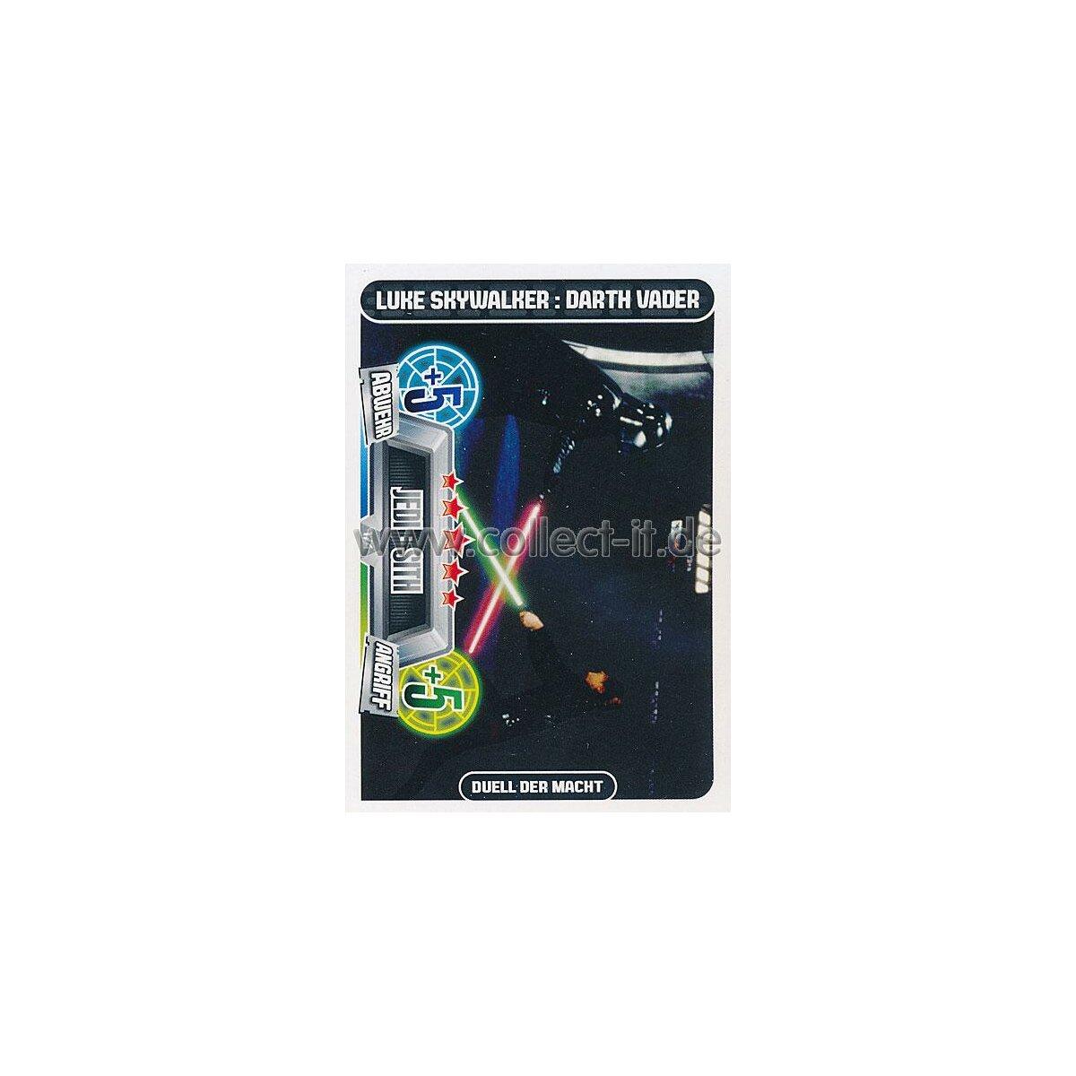 Force Attax Movie Cards 2 174-Luke Skywalker Dark Vador-Jedi Sith