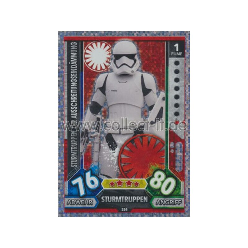238-k-2so Force Attax Movie 5-Universe holo carte