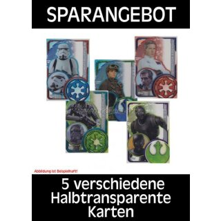 SWRO - Spar 1 - 5 verschiedene Halbtransparente Karten - Deutsch - Star Wars - Rogue One