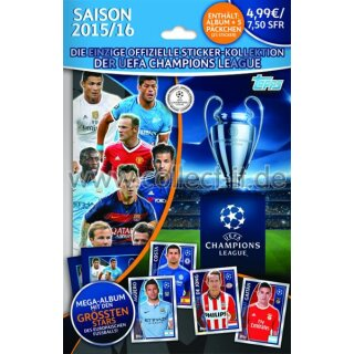 TOPPS Champions League 2015/16 Sticker - Starterpack